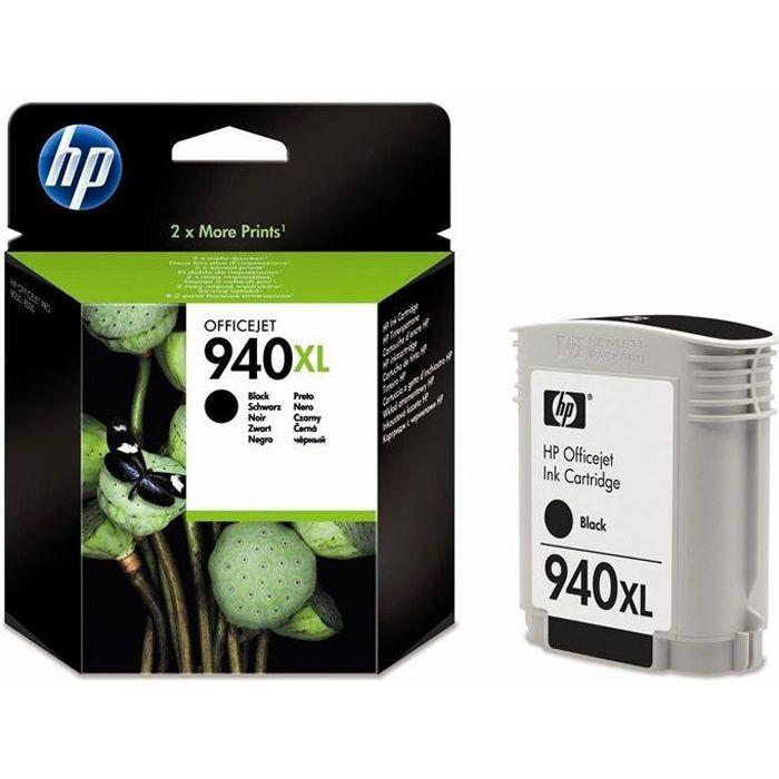 HP 940XL Cartouche d'encre Noir grande capacité authentique (C4906AE)