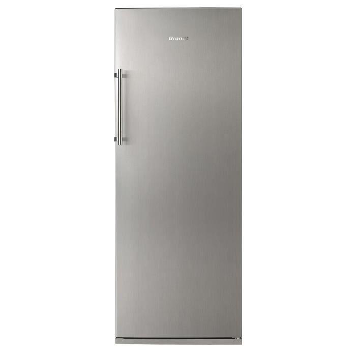 BRANDT BFL5636BX - Réfrigérateur 1 porte - 308L - Froid brassé - A++ - L 60cm x H 163cm - Inox