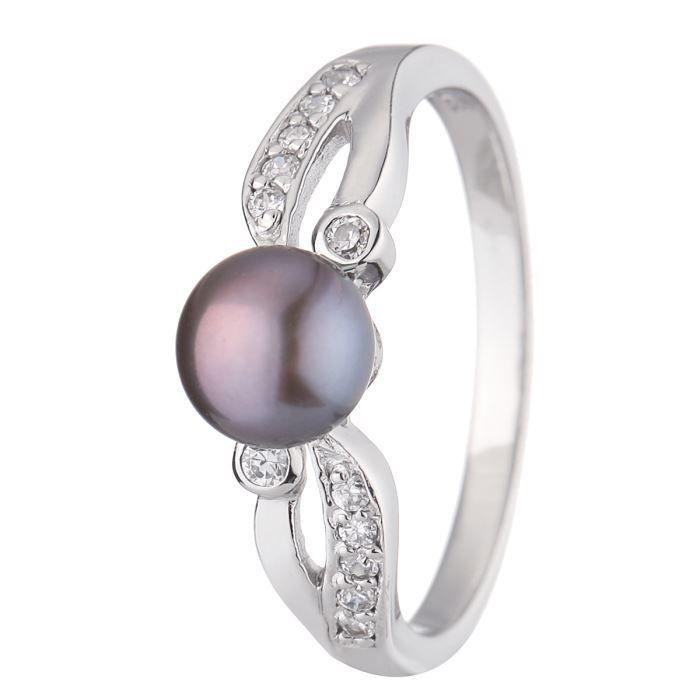 NACRE DE PERLE Bague Argent 925° et Perle de Culture d'Eau Douce Femme
