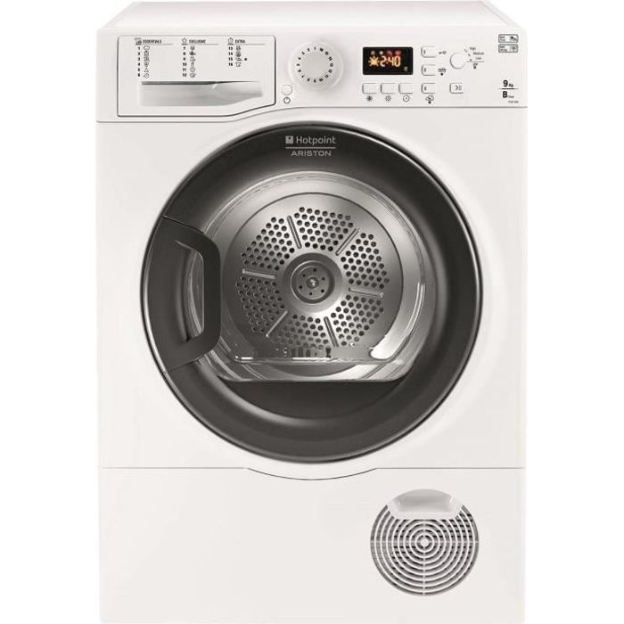 HOTPOINT FTCF97B6HY - Sèche linge frontal - 9 kg - Condensation - B - Blanc