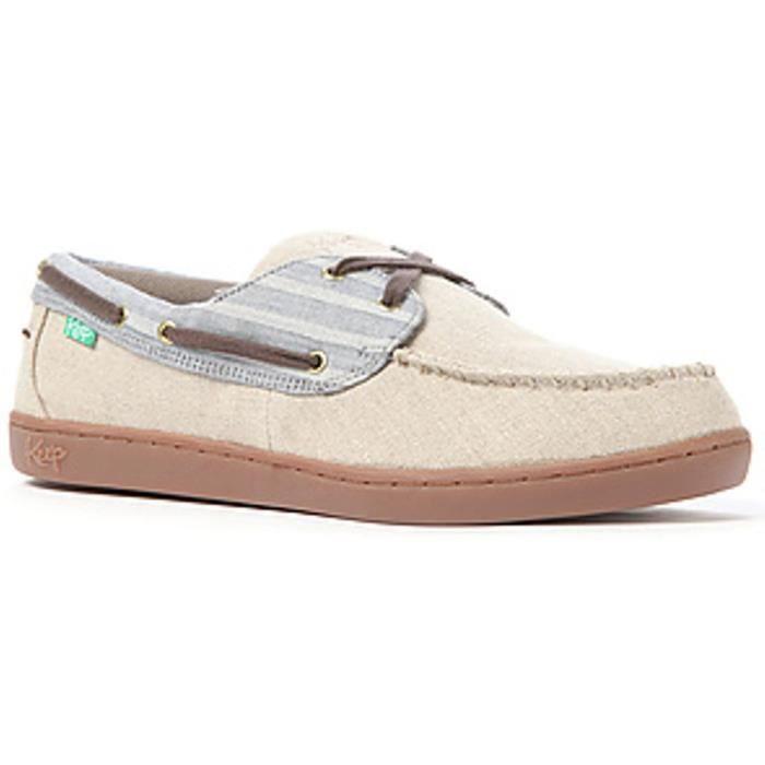 KEEP Chaussures Bateaux Benten Jailbird Stripes - Homme - Beige