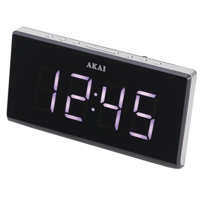 AKAI AC-136KS Radio Réveil Snooze