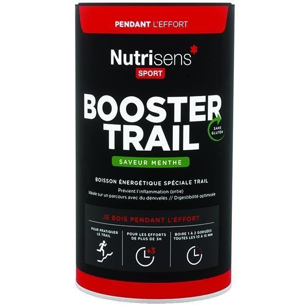 NUTRISENS Complément alimentaire - Pot de 500g pour préparation de boisson énergétique Booster Trail - Menthe