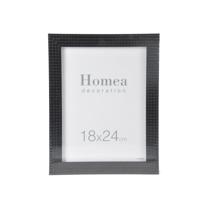 HOMEA Cadre photo Relief 18x24 cm noir