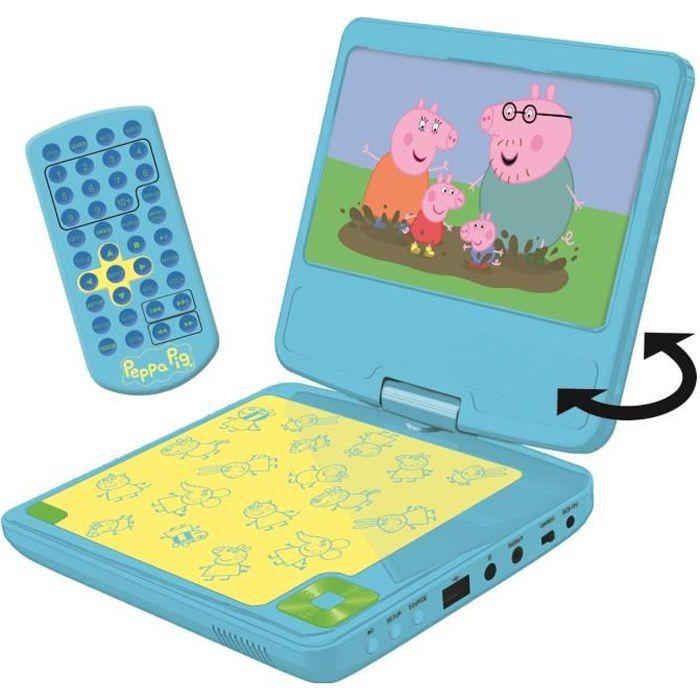 LEXIBOOK - PEPPA PIG - Lecteur DVD Enfant Portable