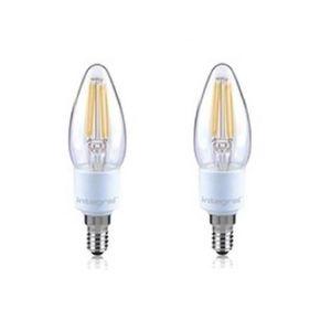 INTEGRAL LED Lot de 2 ampoules flamme E14 filament 4,5W équivalent ? 36W 2700 K 420 lm dimmable