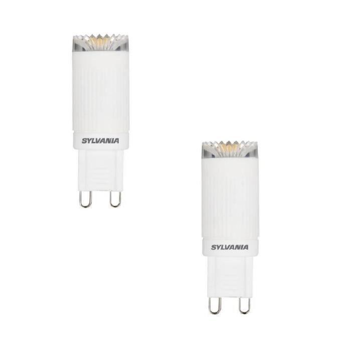 SYLVANIA Lot de 2 ampoules LED Toledo G9 3 W équivalent à 20 W