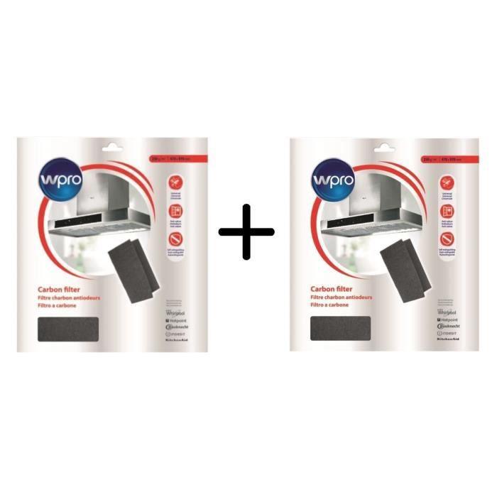 PACK WPRO UCF016 Filtre universel à graisse et à charbon 2 en 1. Dim 470x570 mm. 450g/m2 X2
