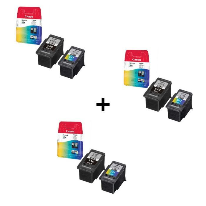 Canon cartouches PG-540/CL-541 B/C/M/Y x3