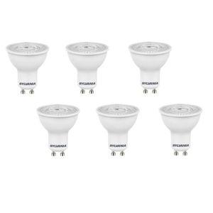 SYLVANIA Lot de 6 ampoules LED spot Refled ES50 V3 GU10 5 W équivalent ? 47 W