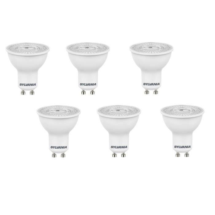 SYLVANIA Lot de 6 ampoules LED spot Refled ES50 V3 GU10 5 W équivalent à 47 W