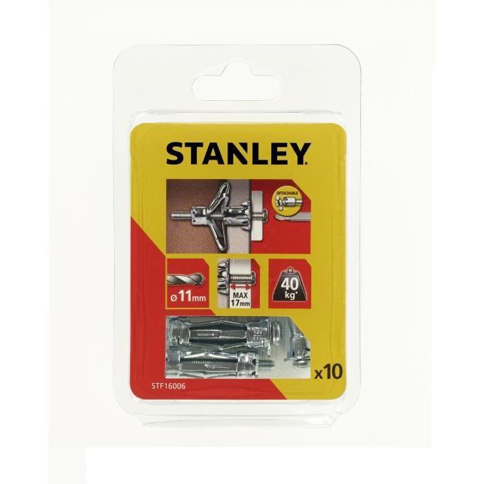 STANLEY Lot de5 chevilles métalliques à expansion ø 5x36 mm avec vis M5 STF16006-XJ