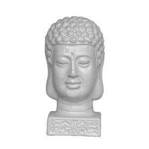 STATUE - STATUETTE   HOMEA Tête de bouddha émaillée déco - Ø 17 x H 33