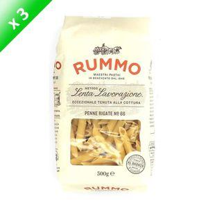 PÂTES ALIMENTAIRES RUMMO Lot de 3 Penne Rigate N°66 - 500 g