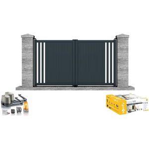 PORTAIL - PORTILLON Portail motorisé SOMFY battant aluminium Irazu 3m