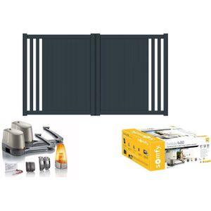 portail aluminium battant motorise achat vente portail aluminium battant motorise pas cher. Black Bedroom Furniture Sets. Home Design Ideas