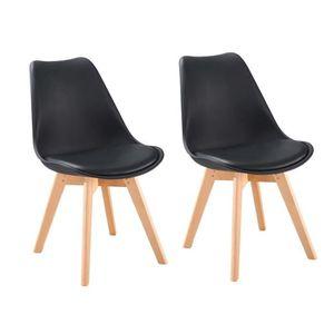 CHAISE BJORN Lot de 2 chaises scandinaves de salle à mang