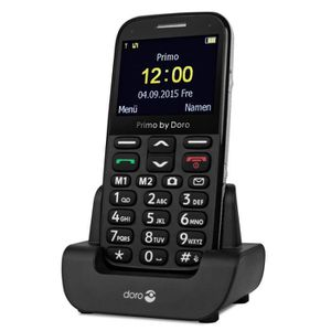 Téléphone portable Doro Primo 366 Noir  - Téléphone Senior