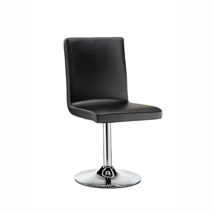 Franklyn chaise de salle manger noire achat vente for Chaise salle a manger noir