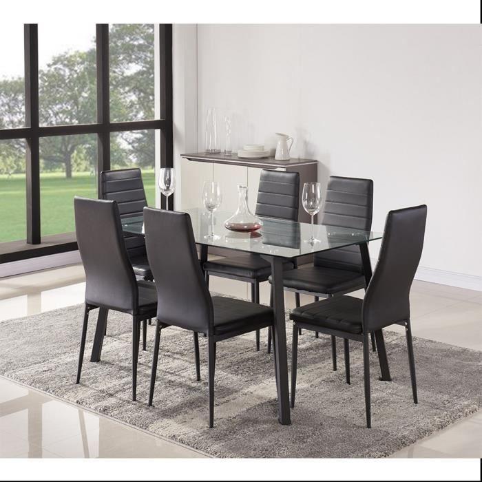 solis ensemble table manger 6 personnes 140x80 cm 6. Black Bedroom Furniture Sets. Home Design Ideas