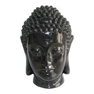 OBJET DÉCORATIF HOMEA Tête de bouddha déco en magnésie 35x34xH52 c
