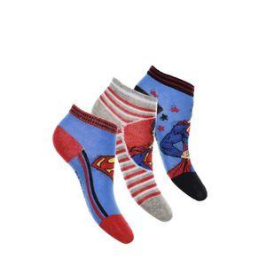 CHAUSSETTES SUPERMAN Lot de 3 Paires de Chaussettes Basses Ble