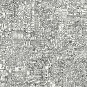 PAPIER PEINT Papier peint adhésif City Map - 5 x 0,53 mètre