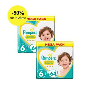 COUCHE Pampers Premium Protection Taille 6, 13+ kg, 128 C