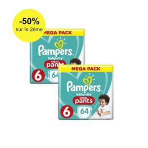 COUCHE Pampers Baby-Dry Pants Taille 6, 15+ kg, 128 Couch