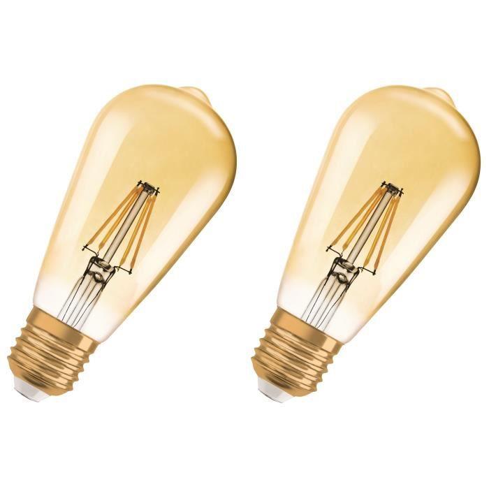 1906 Lot Chaud E27 De Équivalent À Blanc 8 Osram 2 Ampoules 2 W Led Édition 21 Vintage b6g7fy
