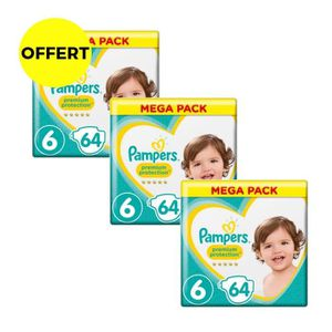 COUCHE PAMPERS Premium Protection Taille 6 - 15+ kg - 192