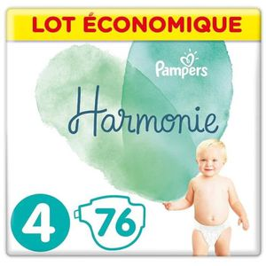 COUCHE PAMPERS Harmonie Taille4, 9-14kg, 76Couches (4x