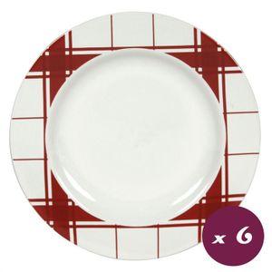 assiette rouge et blanche achat vente assiette rouge et blanche pas cher cdiscount. Black Bedroom Furniture Sets. Home Design Ideas