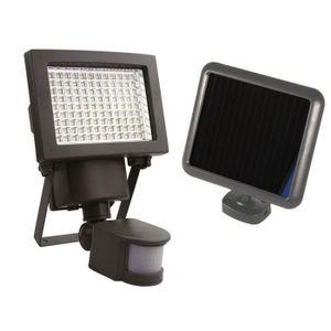PROJECTEUR EXTÉRIEUR Projecteur solaire à détection 108 LEDs 1000 Lumen