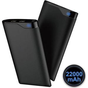 BATTERIE EXTERNE Batterie Externe 22000mAh 2 Ports USB - Noir