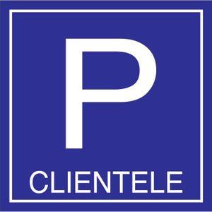 PANNEAU EXTÉRIEUR Parking clientèle 500x500mm