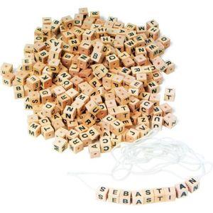 MALLETTE MULTI-JEUX Dés en bois Lettres de l'alphabet