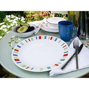 SERVICE COMPLET Corelle Service de vaisselle 16 pièces en verre Vi