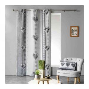 Double rideau gris - Achat / Vente pas cher