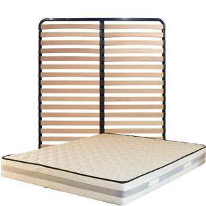MATELAS Matelas 160x200 + Sommier Démonté + pieds + Protèg
