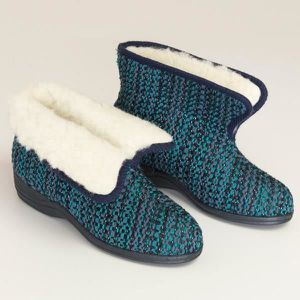 BOTTINE Bottillons chaud fourrés de laine pour femme pour