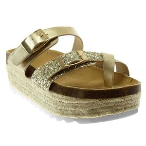 SANDALE - NU-PIEDS Angkorly - Chaussure Mode Sandale slip-on platefor