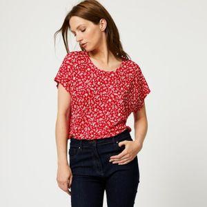 T-SHIRT Tshirt en lin manches courtes imprimé