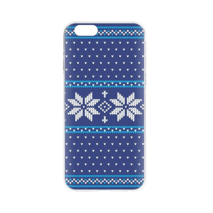 FLAVR Coque Case Ugly Xmas Sweater - Iphone 6 / 6s - Bleu