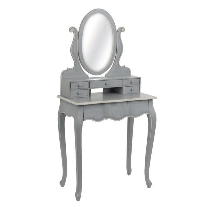 Coiffeuse baroque couleur grise achat vente coiffeuse - Miroir la foir fouille ...