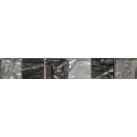CARRELAGE - PAREMENT Listel en pate de verre - 5 x 30 cm - Noir