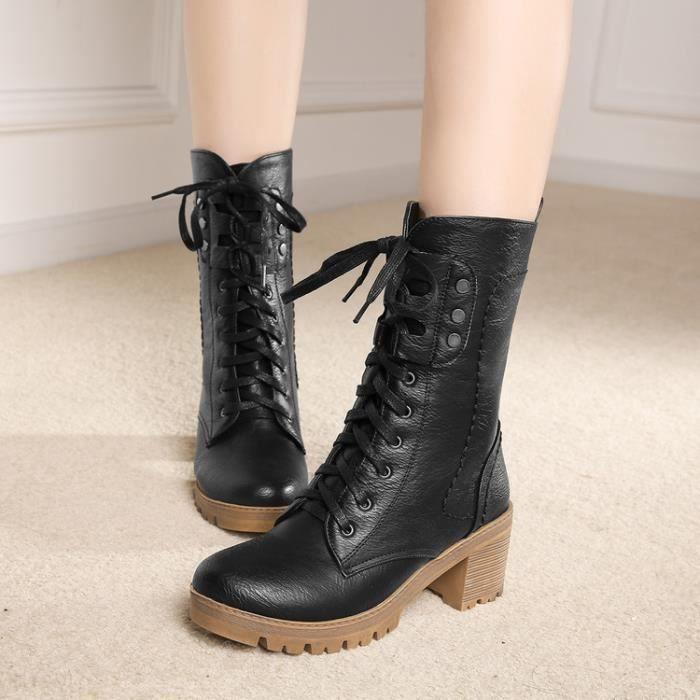 martin boots-Femmes Pure Heel CarrCouleur Bot...