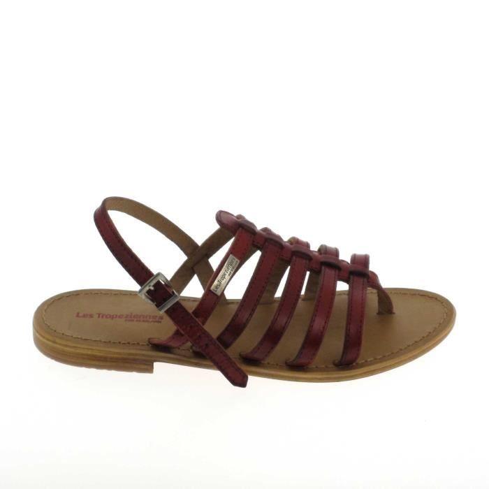 Nu pieds et sandales LES TROPÉZIENNES Heriber Rouge