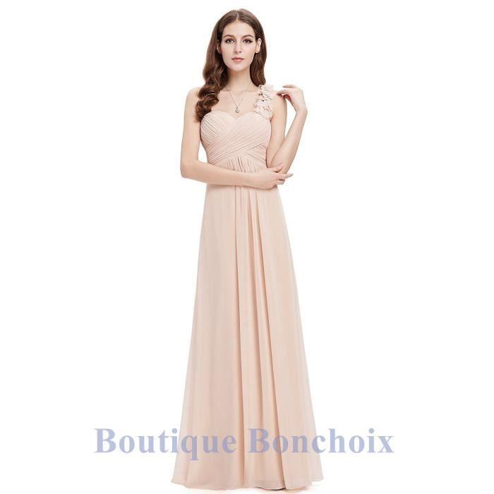 comment avoir plutôt cool dernier style Robe de Soirée Cérémonie Cocktail Mariage Femme Longue Une épaule Fluide  Taille 36-46