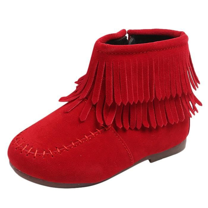 b35f43fbc06b4 Enfants Infant Filles Garçons d hiver franges Martin Bottes de neige  Chaussures